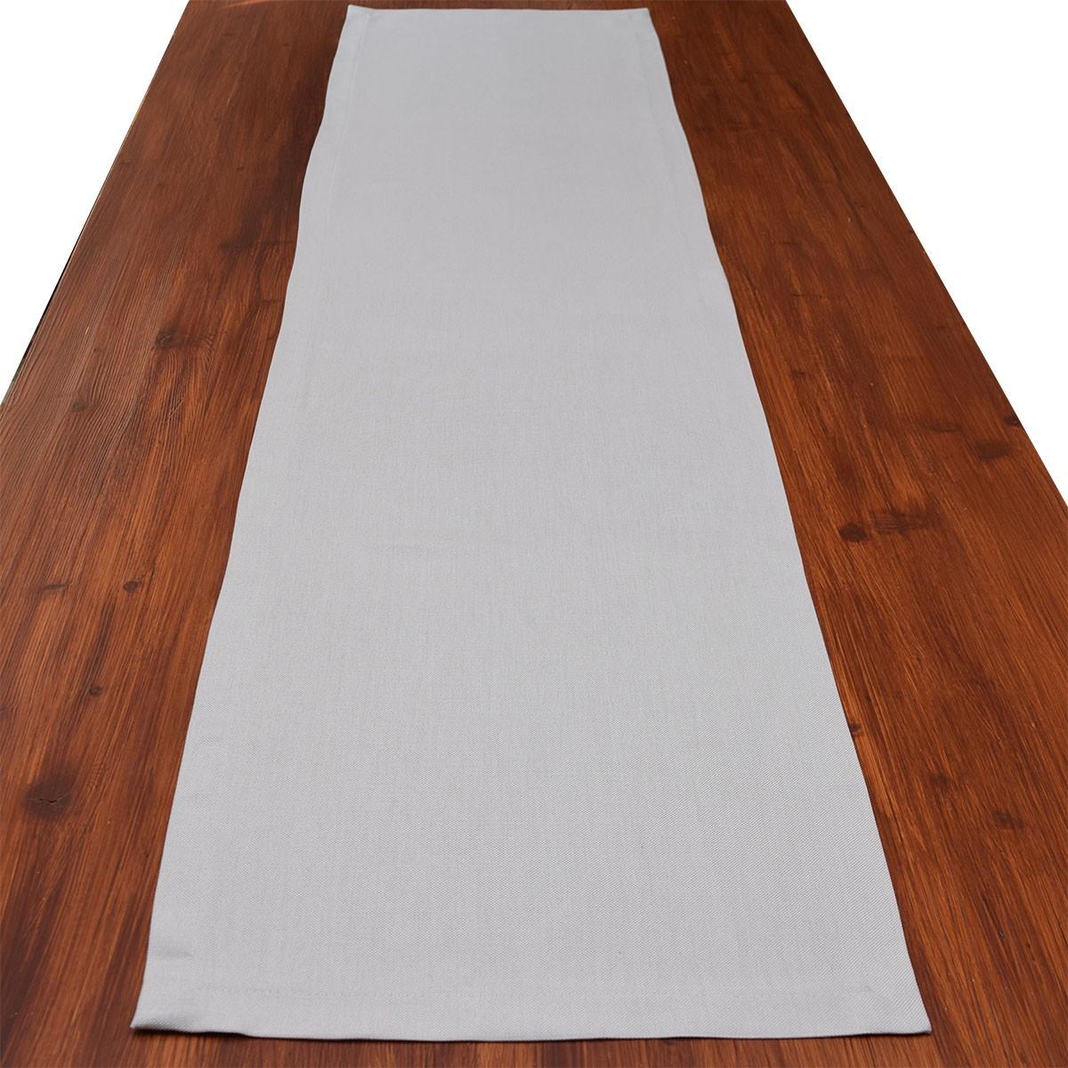 Tischläufer Seaside grau uni auf dem Tisch
