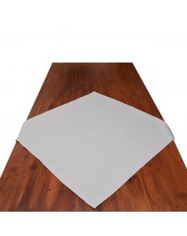 Mitteldecke Husum grau uni auf dem Tisch