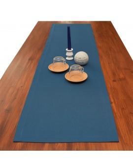 Tischläufer Husum blau uni dekoriert