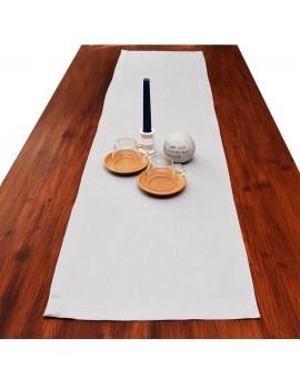 Tischläufer Husum grau uni dekoriert