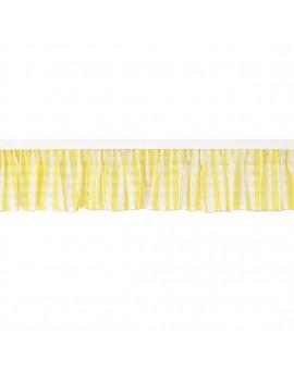 """Querbehang zur Küchengardine """"Melli in Gelb"""" mit Reihband gelb-weiss-kariert Bistrogardine"""
