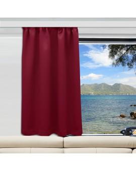 Wohnmobil-Vorhang Mattis weinrot
