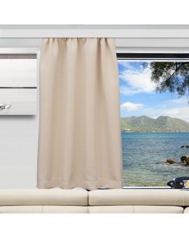 Wohnmobil-Vorhang Mattis hellbeige dekoriert