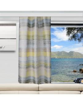 Caravan-Gardine Wohnmobil-Vorhang Liam Grün Gelb