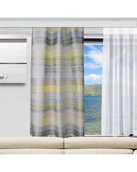 Caravan-Gardine Wohnmobil-Vorhang Liam Grün Gelb mit Caravan-Store