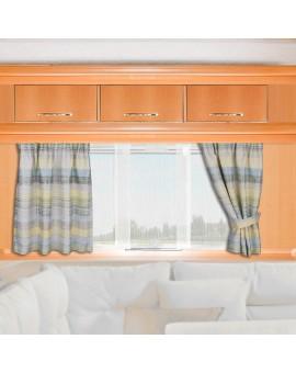 Caravan-Gardine Wohnmobil-Vorhang Liam Grün Gelb Beispielbild