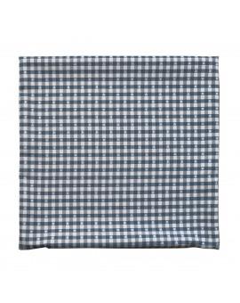 Kissenhülle Leni blau kariert 40x40 cm ohne Füllung