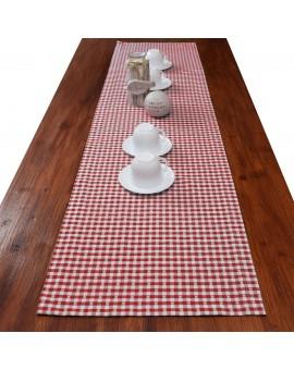 Tischläufer Leni Rot kariert Beispielbild
