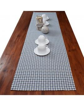 Tischläufer Leni Blau kariert Beispielbild