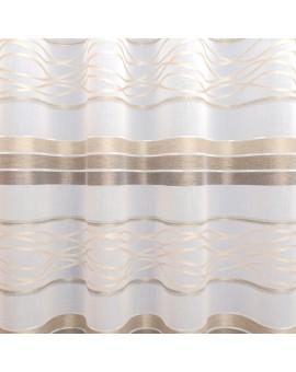Dekoschal Tori mit Streifenmuster braun-beige Musterbild