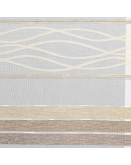 Flächengardine Tori mit Streifenmuster braun-beige Stoffmuster
