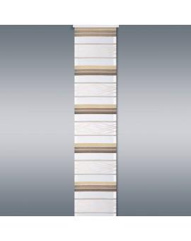 Flächengardine Tori mit Streifenmuster braun-beige Musterbild
