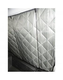 Isotherm DeLuxe 7-lagig Abdeckung für Front -und Seitenscheiben Detailansicht im Fahrzeug