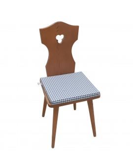 Sitzkissen Leni blau kariert komplett Beispielbild