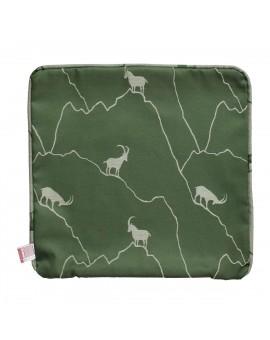Keder Kissenbezug Breno mit Steinbock grün dunkel Musterbild