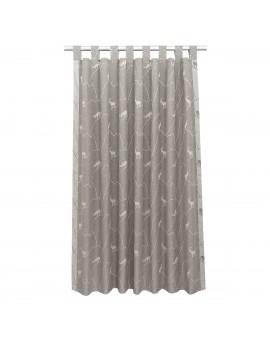 Schlaufenschal Breno mit Steinbock grau
