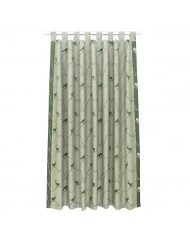 Schlaufenschal Breno mit Steinbock grün