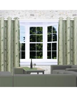Ösenschal Breno mit Steinbock grün am Fenster
