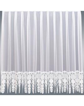 Gardinenstore Marthe mit Stickerei-Kante Weiß Einzelbild