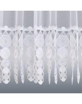 Gardinenstore Marthe mit Stickerei-Kante Weiß Detail unten