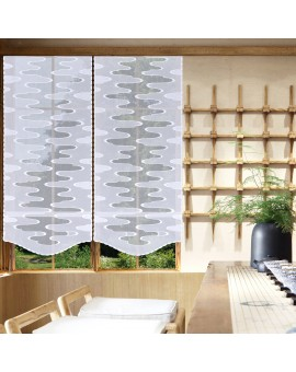 Modern Bestickte Flächengardine Linnea weiss Beispielbild am Fenster