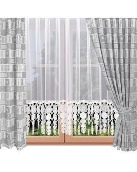 Dekoschals Marie mit Rose in grau am Fenster