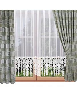 Dekoschal Marie mit Rose in grün am Fenster
