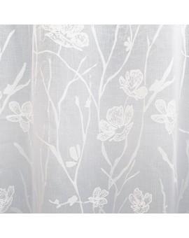 Seitenschal Rory in weiß mit Blüten-Muster Detailbild