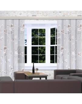 Reihband-Vorhang Yari mit Blumen-Muster am Fenster
