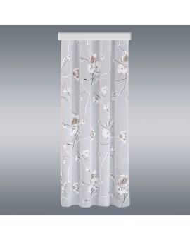 Gardinenschal Yari mit Blüten-Muster