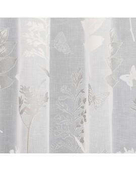 Design Avara mit Schmetterlingen weiß-silber Detailbild