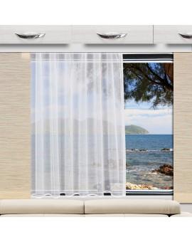 Wohnwagen Store AURI weiß-beige mit Caravan-Paneele beige