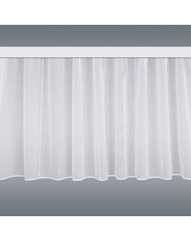 Wohnwagen Store AURI weiß-beige vor grauem Hintergrund