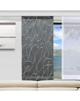 Flächengardine Joran grau mit Effektstickerei Beispielbild