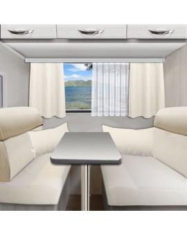 Kollektion Joran in wollweiß Beispielbild im Wohnwagen