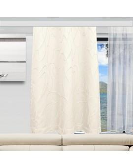 Caravan-Vorhang Joran in wollweiß Dekobeispiel