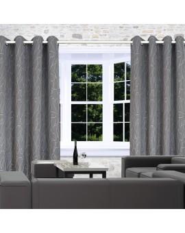 Dekoschal Joran in grau am Fenster