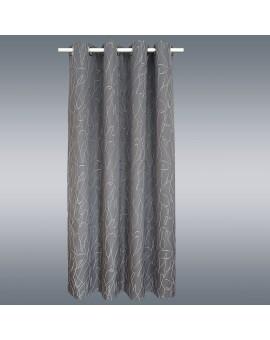 Seitenschal Joran in grau mit Effektstickerei Musterbild