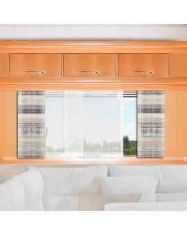Caravan-Flächenvorhang LIAM 20cm breit | Höhe nach Maß braun-beige