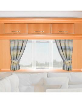 Raffhalter LIAM 2er-Set passend zum Caravan-Seitenschal LIAM grün-beige