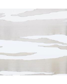Flächengardine Eltje Schiebevorhang weiß-sekt aufwendiges Scherli-Muster
