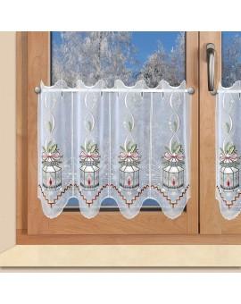 """Weihnachts-Scheibengardine """"Laterne"""" Wintergardine Plauener Stickerei"""