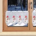 """Wintergardine """"Schneemann mit Besen"""" Weihnachts-Panneau Plauener Stickerei"""