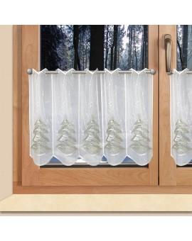 """Weihnachts-Scheibengardine """"Tannenbaum"""" Wintergardine Plauener Stickerei"""