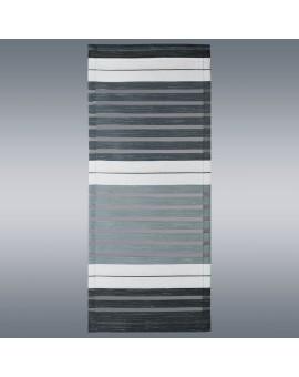 """Flächengardine """"Aiko"""" 20cm breit grau gestreift für Caravan Wohnwagenvorhang Höhe nach Maß"""